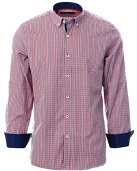 Ottomoda Red Gingham Button Down Shirt