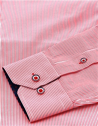 Ottomoda Red Stripe Pattern Button Down Shirt