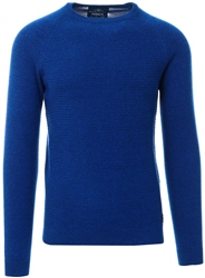Holmes & Co Rich Indigo Marl Textured Long Sleeve Sweater