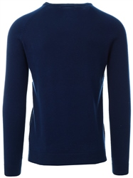Holmes & Co Blue Depths Textured Long Sleeve Sweater