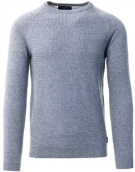 Holmes & Co Cloud Grey Marl Textured Long Sleeve Sweater