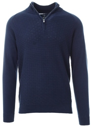Holmes & Co Blue Depths Halton 1/4 Zip Sweater