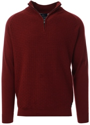 Holmes & Co Burgundy Halton 1/4 Zip Sweater
