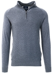 Holmes & Co Tornado Marl Halton 1/4 Zip Up Sweater
