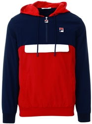 Fila Peacoat / Chinese Red/White Macker 1/2 Zip Jacket