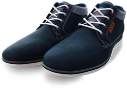 Lloyd & Pryce Washed Denim Purcell Lace Up Shoe