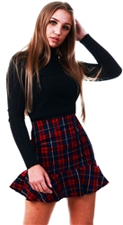 Parisian Multi Tartan Check Mini Skirt