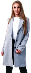 Veromoda Light Grey/Melange Long Jacket