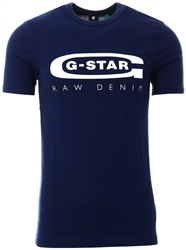 Gstar Sartho Blue Graphic 4 T-Shirt
