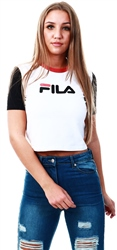Fila White/Black/Mineral Red Anna Fitted Tee