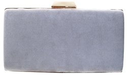 Koko Grey Textured Clutch Bag