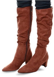 Marco Tozz Brown Knee High Boot
