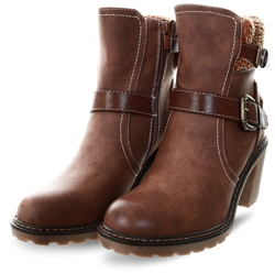Refresh Camel Side Buckle Heed Boot
