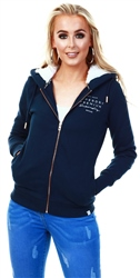 Superdry Navy Applique Zip Hoodie