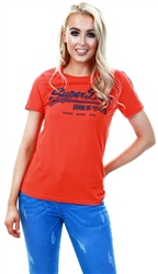 Superdry Cherry Tomato Vintage Logo Linear Sport T-Shirt