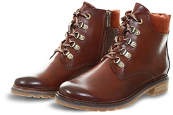 Marco Tozz Brown Lace Up Ankle Boot