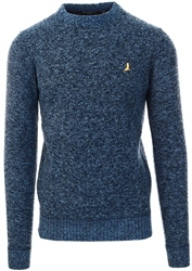 Brave Soul Navy Goodwin Knitted Jumper