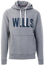 Jack Wills Grey Marl Stokeford Graphic Hoodie