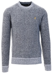 Brave Soul Grey Marl Goodwin Knitted Jumper