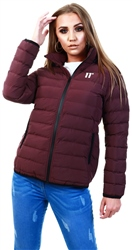 11degrees Mulled Wine Spectrum Puffer Jacket