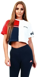 Ellesse White Essere Crop Top
