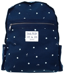 Jack Wills Navy Portbury Backpack