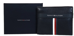 Hilfiger Denim Black Signature Leather Card Holder