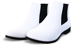 Krush White Pu Chelsea Boot