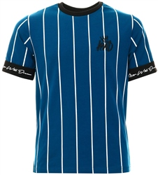 Kings Will Dream Sail Blue / White / Black Junior Jifton Pinstripe T-Shirt