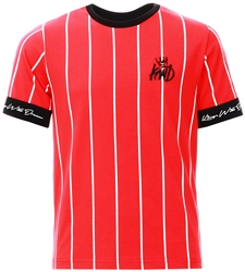 Kings Will Dream Red / White / Black Junior Jifton Pinstripe T-Shirt