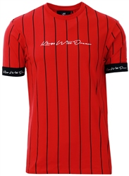 Kings Will Dream Red / Black / White Clifton Pinstripe T-Shirt