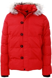 4bidden Lightening Red Parka Jacket