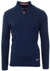 Superdry Dark Navy Downhill Race Henley Jumper
