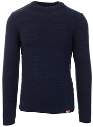 Superdry Downhill Navy Twist Keystone Crew Jumper