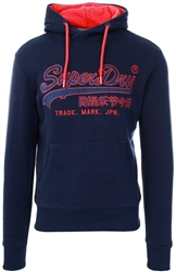 Superdry Rich Navy Downhill Racer Applique Hoodie