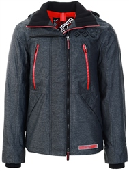Superdry Charcoal Marl Hooded Polar Sd-Windattacker Jacket