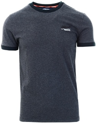 Superdry Dark Nordic Charcoal Texture Orange Label Cali Ringer T-Shirt