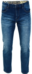 Sixways Mid Blue Daman Straight Jeans by Superdry