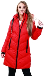 Tokyo Laundry Red Padded Longline Coat