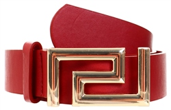 Impulse Red Button Buckle Belt