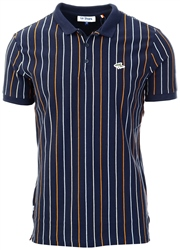 Le Shark Sky Captain Navy Norwood Pinstripe Cotton Pique Polo Shirt