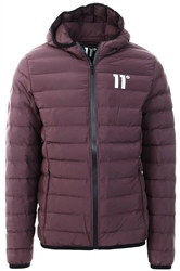 11degrees Burgundy Space Puffer Jacket