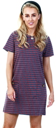 Brave Soul Red Check Pattern Short Dress