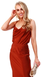 Jdy Brown / Cinnamon Sateen Cami Top