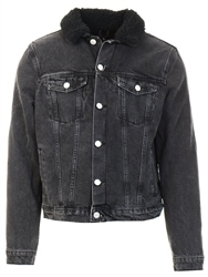 Broken Standard Black Sherpa Denim Jacket