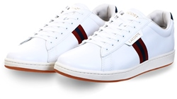 Lacoste White Carnaby Evo Tricolour Leather Trainers
