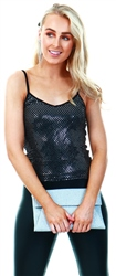 Missi Lond Black/Silver Sequin Cami Top