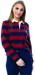 Jack Wills Damson Gately Stripe Rugby Shirt