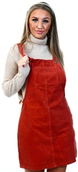 Brave Soul Rust Corduroy Pinafore Dress