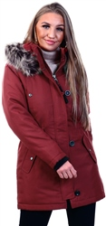 Only Red / Merlot Rib Sleeve Parka